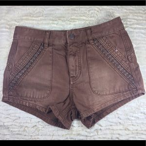 Free People brown denim shorts A120